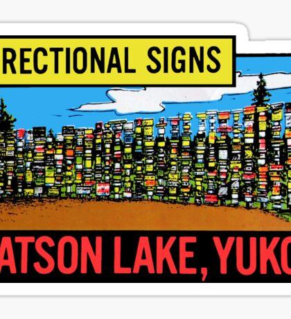 Yukon Territories Canada Watson Lake Directional Signs Vintage Travel Decal Sticker