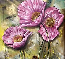 Finding Beauty in Chaos Series:  Pink Poppies by Cherie Roe Dirksen