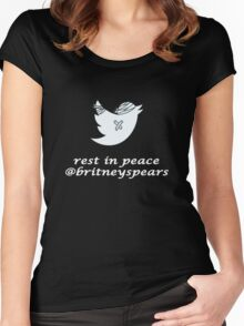 RIP Britney Spears Twitter's Women's Fitted Scoop T-Shirt