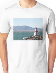 Red and White Lighthouse Lake Havasu  Unisex T-Shirt