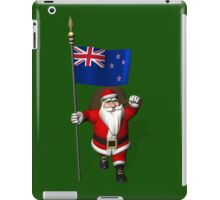 Santa Claus With Flag Of New Zealand iPad Case/Skin