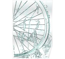 old bicycle in the meadow Poster