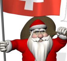 Santa Claus Visiting The Swiss Confederation Sticker