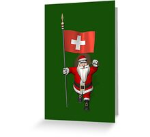 Santa Claus Visiting The Swiss Confederation Greeting Card