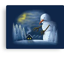 On One Cold Winter Night Canvas Print