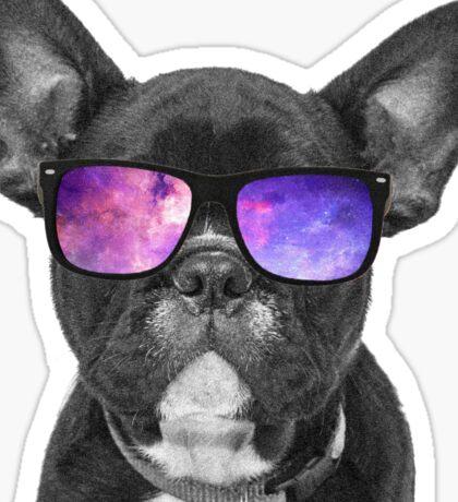Space Dog - Cute Puppy Sticker Sticker