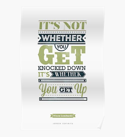 Knocked Down? Get Up. Poster
