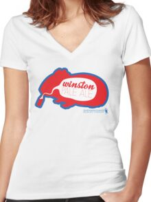 Shenanigans - Winston Pale Ale Women's Fitted V-Neck T-Shirt