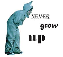 where the wild things are - never grow up Photographic Print