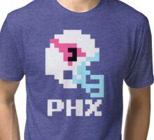 Tecmo Bowl, Tecmo Bowl Shirt, Tecmo Bowl T-shirt, AZ Helmet, AZ, PHX Tri-blend T-Shirt
