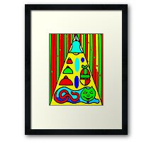 HOME IS WHERE THE CAT IS Framed Print