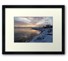 Ice Dawn Framed Print