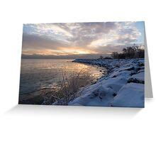 Ice Dawn Greeting Card