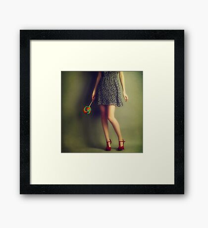 Red shoes #2 Framed Print