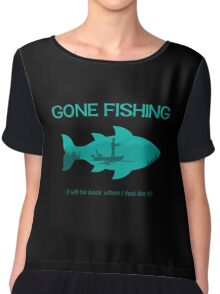 Gone Fishing Chiffon Top