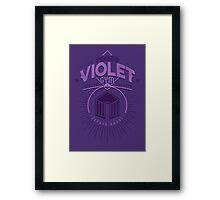 Violet Gym Framed Print