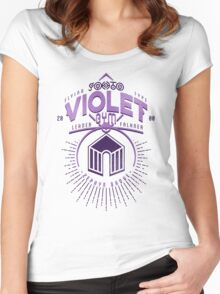 Violet Gym Women's Fitted Scoop T-Shirt