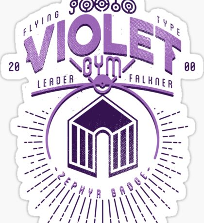Violet Gym Sticker