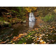 Autumn waterfall in the forest 1 Photographic Print
