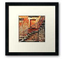 Arkadi Monastery. Stair details Framed Print