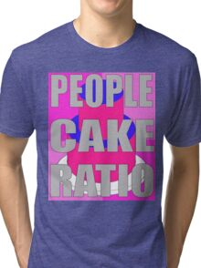 people to cake ratio Tri-blend T-Shirt