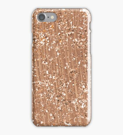 Rose gold painted brushstrokes and glitter iPhone Case/Skin