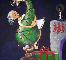 Placing the Xmas fairy by Wendi Seymour