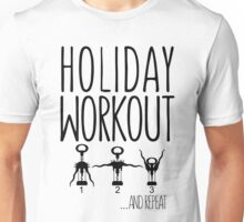Holiday Workout Funny Wine Lovers T-shirts Unisex T-Shirt