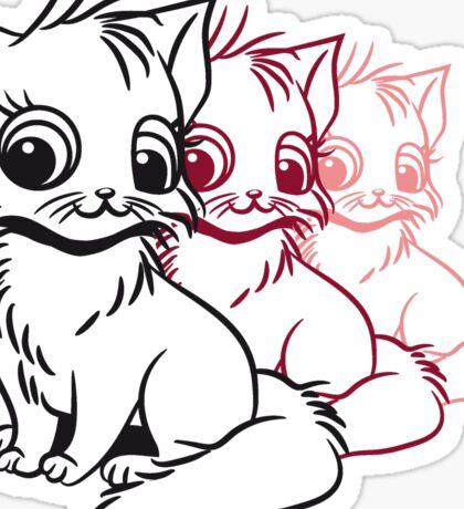 Katze baby niedlich sitzt design  Sticker