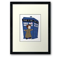 A Doctor and his TARDIS Framed Print