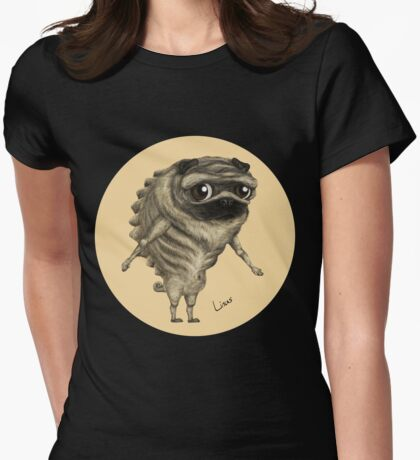 Linus, the Pug Womens Fitted T-Shirt