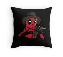 A Nightmare on Pool Street Throw Pillow