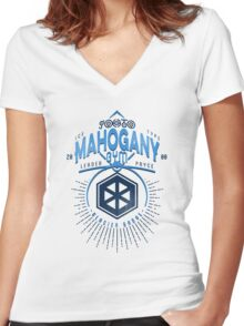 Mahogany Gym Women's Fitted V-Neck T-Shirt