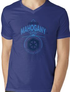 Mahogany Gym Mens V-Neck T-Shirt