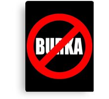 Banned Burka - Text Only Canvas Print