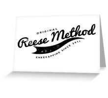 Person of Interest - Original Reese Method of Kneecapping (black lettering) Greeting Card