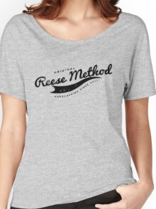 Person of Interest - Original Reese Method of Kneecapping (black lettering) Women's Relaxed Fit T-Shirt