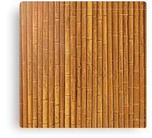 Orange Bamboo Canvas Print