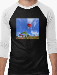 Zinnias Men's Baseball ¾ T-Shirt