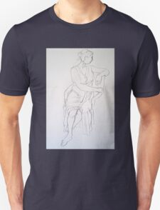Woman turning in a chair T-Shirt