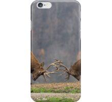 Elk in a fight iPhone Case/Skin