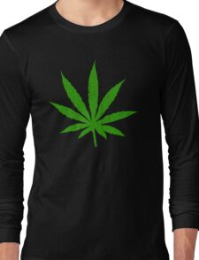 Marijuana Leaf Long Sleeve T-Shirt