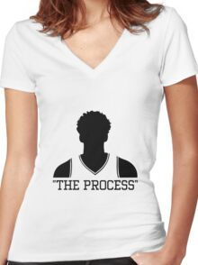 Joel The Process Embiid Women's Fitted V-Neck T-Shirt