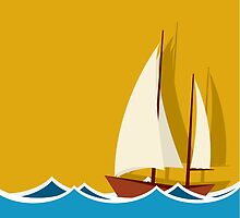 Sailing boat background by Richard Laschon