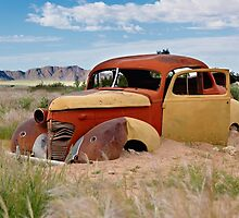 remains of a classic car by travel4pictures