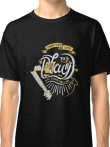 guitar typhograpy Classic T-Shirt