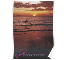LEISURE! Ocean Sunset Poster