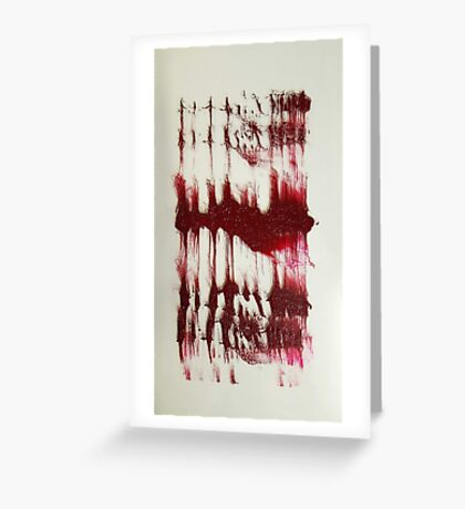 BLOOD INK Greeting Card
