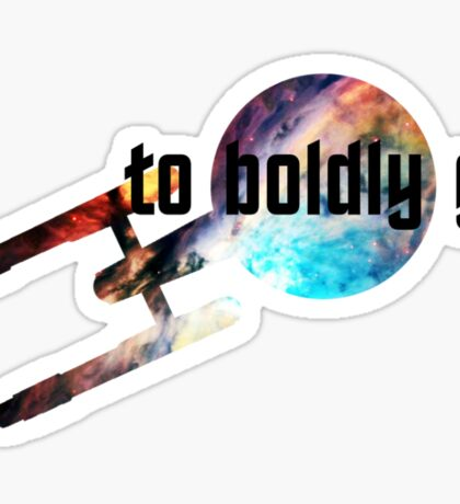 to boldly go Sticker