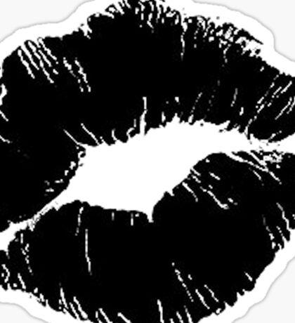 Black lips Sticker